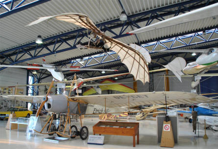 Some of the vintage aircrafts displayed at the Aviaticum Aviation Museum in Wiener Neustadt.