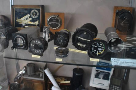 Some of the aviation instruments displayed at the Aviaticum Aviation Museum in Wiener Neustadt.