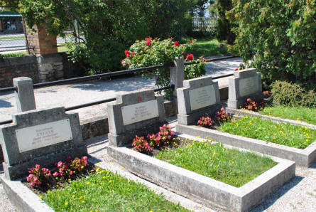 Some of the many Russian World War II graves at the Wiener Neustadt War Cemetery.