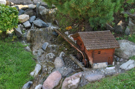 One of the many details displayed at the Minimundus miniature park in Klagenfurt.