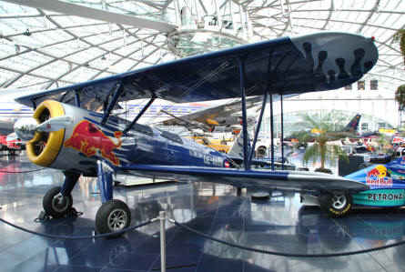 One of the many vintage aircrafts displayed at Hangar-7 - Salzburg Airport - as a part of the Red Bull Museum.