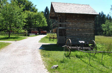 One of the many classic Austrian farm buildings at the Salzburg Open-Air Museum.