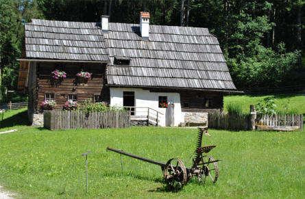 One of the many classic Austrian farm houses at the Salzburg Open-Air Museum.