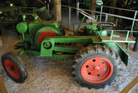 One of the many classic tractors displayed at the Salzburg Open-Air Museum.