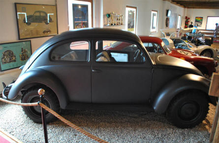 A 1940 Volkswagen Beetle Type 87 4x4 (only 4 of this model was ever build) displayed at Helmut Pfeifhofer Porsche museum in Gmünd.