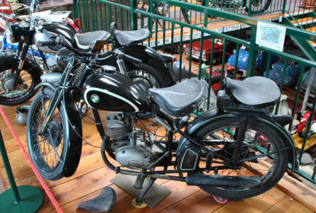 One of the many classic Puch mopeds displayed at the Villach Vehicle Museum.