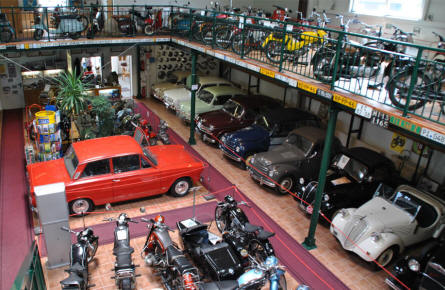 A view from the top floor of the Villach Vehicle Museum.