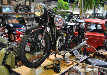 One of the many classic Puch motorcycles displayed at the Villach Vehicle Museum.