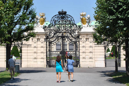 One of the beautiful gates into the park surrounding the Castle Belvedere in Vienna.