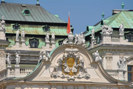 Details from the Upper Belvedere Castle in Vienna.