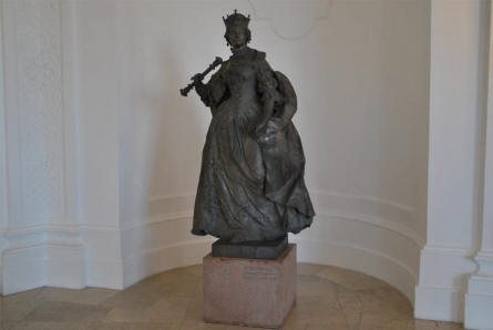 One of the historical statues displayed at the Upper Belvedere Castle in Vienna.