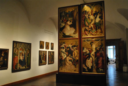 Some of the historical paintings displayed at the Upper Belvedere Castle in Vienna.