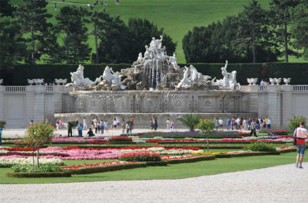 One of the many fountains at the Schönbrunn Palace in Vienna.