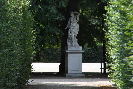 One of the many sculptures in the park of the Schönbrunn Palacein Vienna.