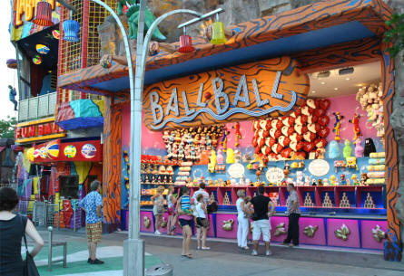 One of the many colorful attractions at the Wiener Prater in Vienna.