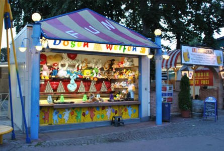 One of the many smaller amusements at the Wiener Prater in Vienna.