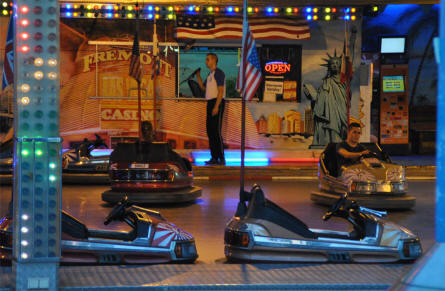 Some of the bumper cars at the Wiener Prater in Vienna.