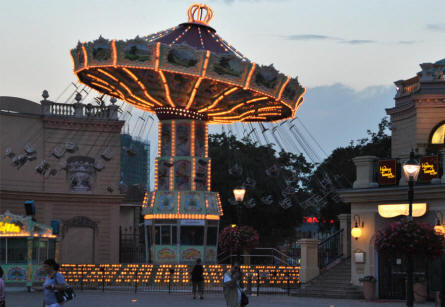 One of the many carousels at the Wiener Prater in Vienna.