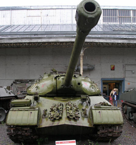 Russian IS-3 Stalin tank at the Royal Armed Forces Museum in Brussels.