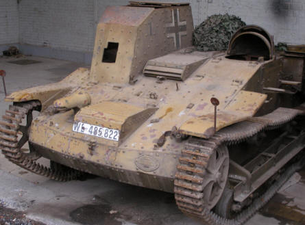 A small World War II German panzer at the Royal Armed Forces Museum in Brussels.
