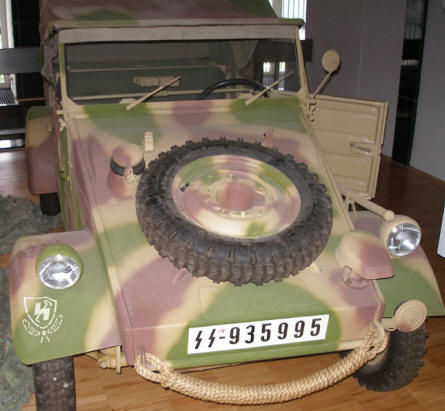 "A German World War II Kubelwagen (""jeep"") at the Royal Armed Forces Museum in Brussels."