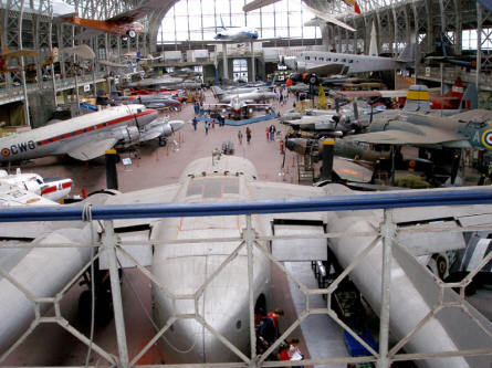 The historic aircraft hall at the Royal Armed Forces Museum in Brussels.