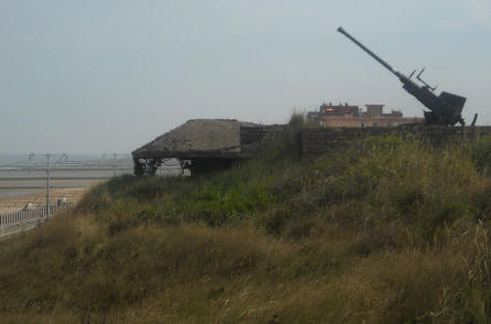 One of the World War II anti-aircraft guns at the Raversijde Domain (Atlantic Wall museum) at Oostende.