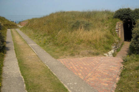 Some of the many roads and trenches at the Raversijde Domain (Atlantic Wall museum) at Oostende.