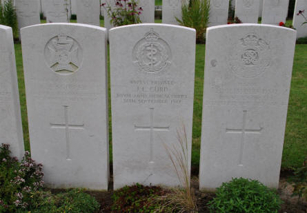 Some of the graves at the Duhallow ADS (Advanced Dressing Station) Cemetery in Ypres.