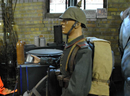 A German World War I soldier displayed at the Hooge Crater Museum 1914-18 in Ypres.