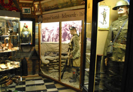 British World War I soldiers displayed at the Hooge Crater Museum 1914-18 in Ypres.