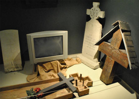 """Death"" is also a part of the exhibition at the IJzertoren Memorial & Museum in Diksmuide."