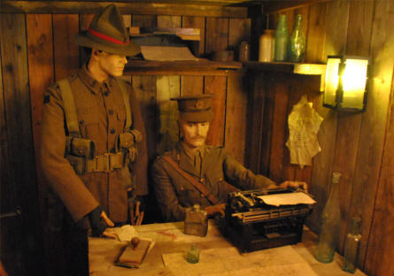 Allied World War I soldiers displayed at the Memorial Museum Passchendaele 1917.