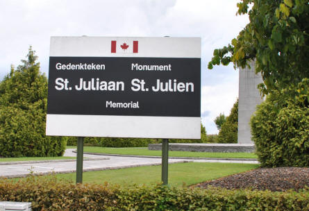 The sign outside the St. Julien Memorial.