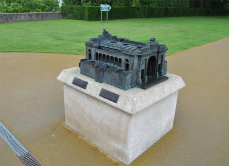 A small-scale model of the Menin Gate Memorial (to the Missing) in Ypres can be found it you walk up the stairs inside the memorial.