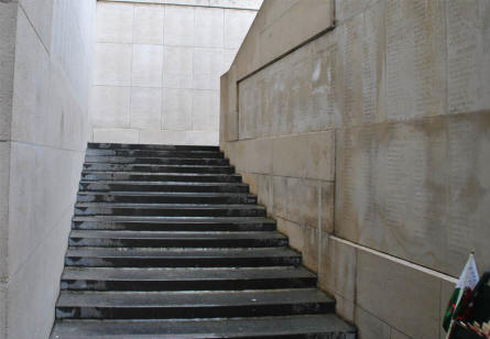 Walk up the stairs inside the Menin Gate Memorial (to the Missing) in Ypres and you will find even more names engraved into the staircases of the memorial.