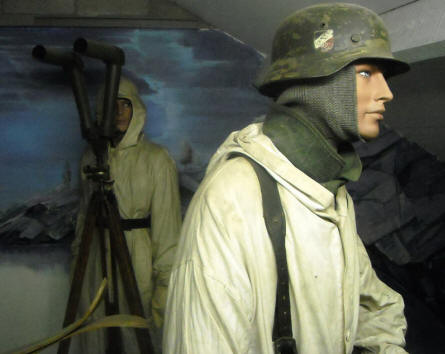 German World War II soldiers displayed in a full-size diorama at the Museum of the Battle of the Ardennes in La Roche-en-Ardenne.