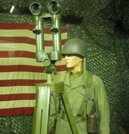 An American soldier with displayed at the Museum of the Battle of the Ardennes in La Roche-en-Ardenne.