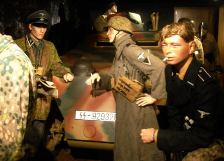 German World War II uniforms of many kinds are displayed at Baugnez 44 Historical Center in Malmedy.