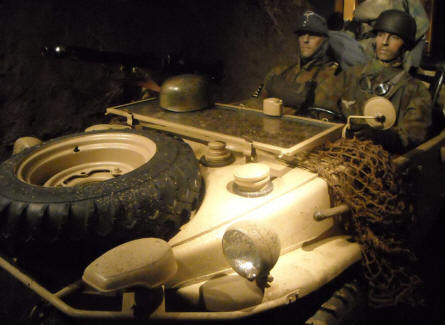 German World War II Schwimmwagen (amphibious jeep) displayed at Baugnez 44 Historical Center in Malmedy.