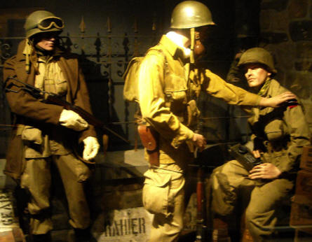 American World War II uniforms of many kinds are displayed at Baugnez 44 Historical Center in Malmedy.