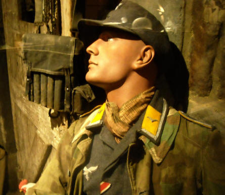 German World War II soldier displayed at Baugnez 44 Historical Center in Malmedy.