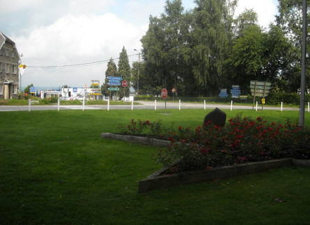 The Malmedy Massacre Memorial is located in a junction in Baugnez - just outside Malmedy.