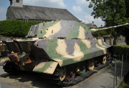 The German World War II King Tiger tank (Sd.Kfz. 182 Königstiger) displayed at the December 1944 Museum in La Gleize.
