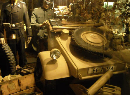 German World War II Küblewagen (VW jeep) displayed at the December 1944 Museum in La Gleize.
