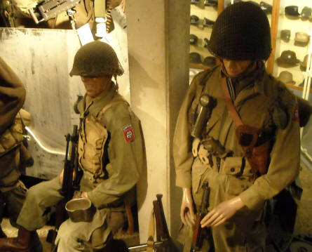 American World War II soldiers displayed at the December 1944 Museum in La Gleize.