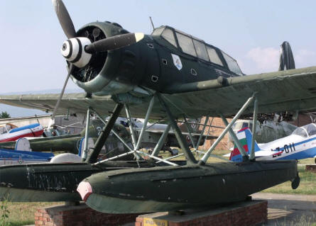 A unique German World War II Arado Ar-196 seaplane displayed at the Museum of Aviation in Plovdiv.