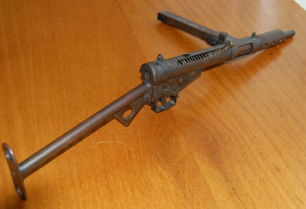 "A copy of the ""Sten Gun"" which was used by the attackers is displayed at the Jan Kubiš memorial hall. Due to its unreliability it jammed and failed to fire in Gabčík´s hands; Kubiš threw a bomb and hit the rear of Heydrich´s car."