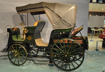 "In 1897 the first automobile in the Austro-Hungarian Empire came into existence. The coach without horses was called the ""Präsident"" displayed at the Technical Museum Tatra."