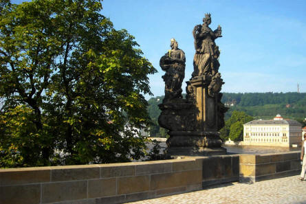 One of the many statues on the Charles Bridge in Prague.